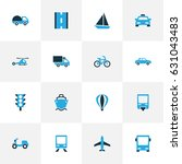 transportation colorful icons... | Shutterstock .eps vector #631043483