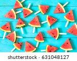 summer watermelon slice... | Shutterstock . vector #631048127