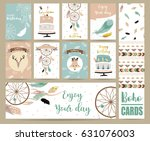 cute cards for banners flyers... | Shutterstock .eps vector #631076003