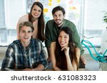 portrait of smiling creative... | Shutterstock . vector #631083323