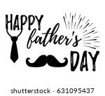 happy father's day banner and... | Shutterstock .eps vector #631095437
