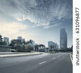 empty asphalt road of a modern... | Shutterstock . vector #631096877
