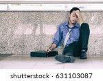 despair sad salary man sit on... | Shutterstock . vector #631103087