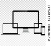 set of modern technology... | Shutterstock .eps vector #631104167