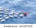 leadership concept  red leader... | Shutterstock . vector #631107233