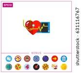 human heart as cardiology... | Shutterstock .eps vector #631116767
