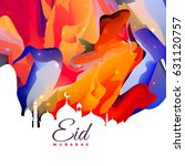 eid mubarak creative abstract... | Shutterstock .eps vector #631120757