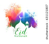 beautiful eid mubarak islamic... | Shutterstock .eps vector #631121807
