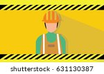 worker icon vector  | Shutterstock .eps vector #631130387