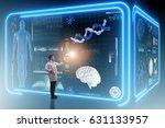 man doctor in futuristic... | Shutterstock . vector #631133957