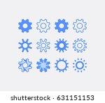 set of gears vector icons.... | Shutterstock .eps vector #631151153