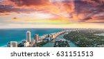 skyline of miami beach ... | Shutterstock . vector #631151513