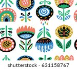 lovely traditional folk art... | Shutterstock .eps vector #631158767