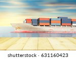 cargo freight ship and cargo... | Shutterstock . vector #631160423