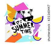 summer time vector banner... | Shutterstock .eps vector #631160447