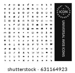 universal web icon set clean... | Shutterstock .eps vector #631164923