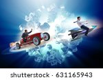 competition concept with... | Shutterstock . vector #631165943