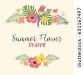 beautiful tropical summer... | Shutterstock .eps vector #631167497