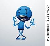 vector cartoon image of a funny ... | Shutterstock .eps vector #631174937