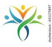 people holding hands.logo... | Shutterstock .eps vector #631175897