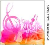 vector musical flyer festival. | Shutterstock .eps vector #631178297