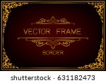gold photo frame with corner... | Shutterstock .eps vector #631182473