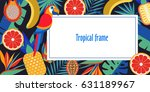 tropical frame with exotic palm ... | Shutterstock .eps vector #631189967