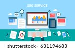 concept for search engine... | Shutterstock .eps vector #631194683