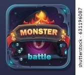 monster battle gui icon  ... | Shutterstock .eps vector #631196087