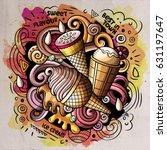 ice cream art cartoon vector... | Shutterstock .eps vector #631197647