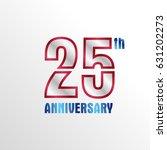elegant 25 year anniversary... | Shutterstock .eps vector #631202273
