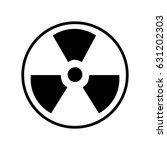 radiation icon | Shutterstock .eps vector #631202303