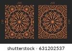 laser cutting set. woodcut...   Shutterstock .eps vector #631202537