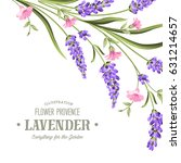 label with lavender. bunch of... | Shutterstock .eps vector #631214657