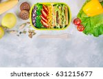 healthy food concept  lunch box ... | Shutterstock . vector #631215677