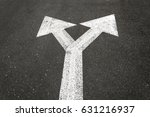 direction arrow showing up left ... | Shutterstock . vector #631216937