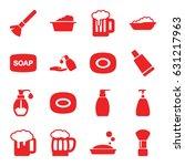 foam icons set. set of 16 foam... | Shutterstock .eps vector #631217963