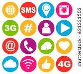 social media icons | Shutterstock .eps vector #631221503