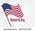 memorial day. american flag on... | Shutterstock .eps vector #631222493