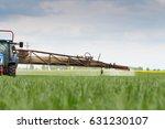 wheat  grain spraying | Shutterstock . vector #631230107