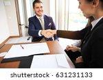 business people shaking hands ... | Shutterstock . vector #631231133