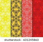 seamless geometry pattern set.... | Shutterstock .eps vector #631245863