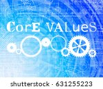 core values word on high tech... | Shutterstock .eps vector #631255223