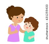 mother admire son character... | Shutterstock .eps vector #631255433