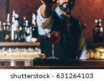 expert barman is making