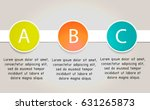 vector one two three steps ... | Shutterstock .eps vector #631265873