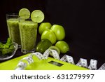 weight loss and a healthy diet. ... | Shutterstock . vector #631279997