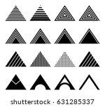 set of triangles | Shutterstock .eps vector #631285337
