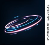 neon blurry circles at motion . ... | Shutterstock .eps vector #631295153
