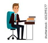 businessman in workplace avatar ... | Shutterstock .eps vector #631295177